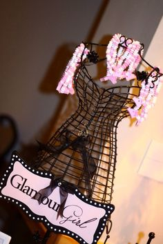 Glam decorations at a Sweet 16 Birthday Party!  See more party ideas at CatchMyParty.com!  #partyideas #sweet16
