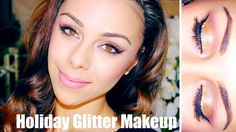 Romantic Holiday Glitter Makeup ♥