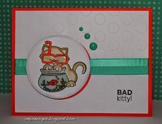 Indy's Designs: Bad Kitty Newton's Summer Vacation stamp set by Newton's Nook Designs