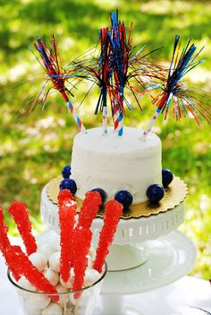 Sweet Seersucker Bow Inspired 4th of July Party Ideas