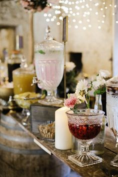 Pretty drink station | Image by Brown Paper Parcel