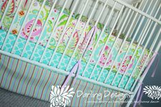 Custom Crib Bedding Set Kumari Garden Dena by DarlingDesignsbyLB, $359.00