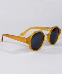 Spitfire Flick Sunglasses - Yellow | Lazy Oaf