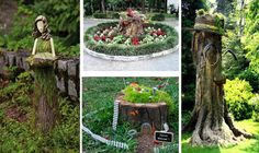 Decorate Your Garden With Tree Stumps In An Amazing Way - The ART in LIFE