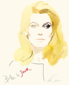 Belle toujours. Working drawing of Deneuve for the DVD cover of Belle de Jour, remastered by Criterion Collection, NY, 2010.