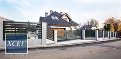 Nowoczesne ogrodzenia i bramy przesuwna Horizon XCEL aluminiowe poziome