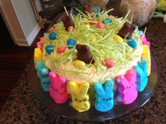 Easter cake with buttercream frosting.