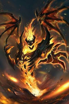 Nevermore by CYRUS-C damn, i miss playing this guy. too bad that he's a meme hero now Dark Fantasy Art, Foto Fantasy, Fantasy Artwork, Fantasy World, 3d Artwork, Monster Art, Monster Concept Art, Fantasy Monster, Fantasy Wesen
