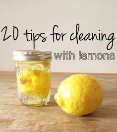 Cuddles and Chaos | 20 tips for DIY green cleaning with lemons - I used the mixture for the shower doors - worked good, but need lots of elbow grease