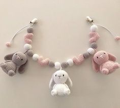 Crochet Baby Bibs, Crochet Necklace, Beaded Necklace, Baby Knitting Patterns, Projects To Try, Homemade, Sewing, Diy, Jewelry