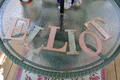 ~Antiqued Letters for the Nursery~
