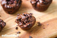 Muffin vegano de cacau e pasta de amendoim sem farinha - Culinarístico