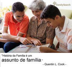"""""""História da Família é um assunto de família"""". Preserve em www.familysearch.org/photos  #familysearch #historiadafamilia"""