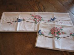 Pineapple House Antiques ~ Vintage Embroidered Pillowcases!
