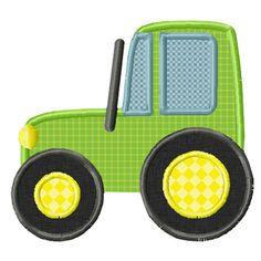 John Deere Tractor Applique Machine Embroidery Design INSTANT DOWNLOAD Professionally Digitized - Super Cute! ---Buy 3 get 1 design FREE!---...