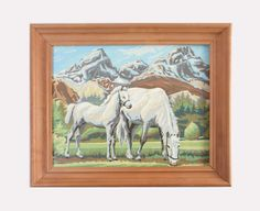 Vintage Paint by Number of Horse and Foal perfect for by PattyMora, $45.00