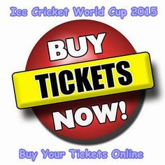 Sports And Fitness: Cricket World Cup 2015 Tickets Booking Procedure