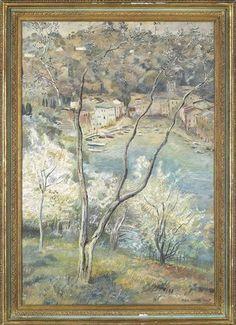 Michele Cascella - View of Portofino, 1938,...