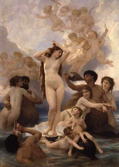 william adolphe bouguereau, birth of venus