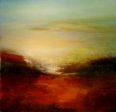 150 x 150 cm. Landscape Artwork, Abstract Landscape Painting, Seascape Paintings, Abstract Art, Painting Inspiration, Art Inspo, Soft Pastels, Cool Artwork, Canvases