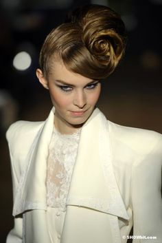 Beauty, Hair and Makeup from Jean Doucet Couture Spring-Summer/2013