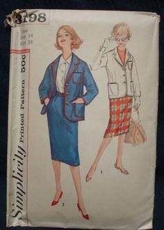 1950s Slim Skirt and Jacket Blazer Office Wear by kinseysue