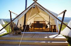 Luxury tent, Yellowstone Under Canvas, West Yellowstone, Mont. (© Yellowstone Under Canvas)