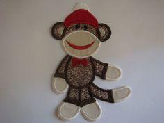Free Applique Templates Patterns   Sock Monkey Applique