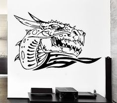 Wall Decal Dragon Fire Mythology Movie Fantasy Monster Cool Interior (z2707)