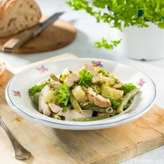 Tuna, Potato Salad, Salads, Food And Drink, Potatoes, Fish, Meat, Ethnic Recipes, Potato