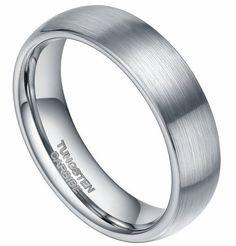 6mm Tungsten Carbide Ring Brushed Dome Design Wedding Bands Comfort Fit, http://www.amazon.com/dp/B00CPJB922/ref=cm_sw_r_pi_awdl_6V19ub1BTGX9N