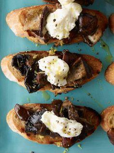 Wild Mushroom and Burrata Bruschetta