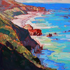 Coast Line Painting by Erin Hanson - Coast Line Fine Art Prints and Posters for Sale