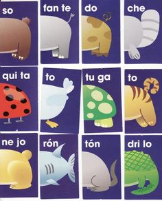 fichas de domino de animales para niños Speech Language Therapy, Speech And Language, Baby Learning, School Projects, Blog, Facebook, Puzzles, Teacher, Chocolate