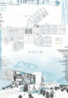 3 Concept Board Architecture, Architecture Presentation Board, Portfolio Presentation, Green Architecture, Architecture Drawings, Architecture Details, Presentation Boards, Hospital Architecture, Architecture Student