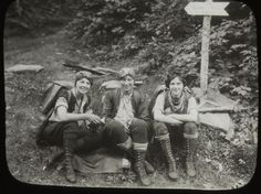 1920's female hikers - VPR News: Long Trail: 3 Musketeers Grab Nation's Attention