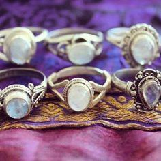 Rainbow moonstone sterling silver rings from $16 USD & worldwide shipping for $2 USD  #rainbowmoonstone #moonstone #moonstonering #gemstonerings #gypsyrings #bohorings #bohojewels #gypsyjewels