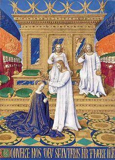 le couronnement de la vierge 1460 livre d heures d etienne chevalier m condé chantilly