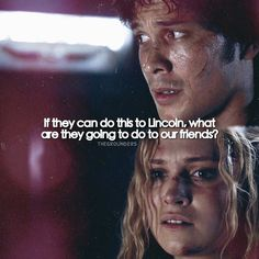 """#The100 2x07 """"Long Into an Abyss"""" - Bellamy and Clarke"""