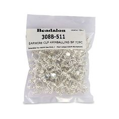 Earring Findings 150051: 72 Piece 4 Mm Ball With Ring Ear Clip Nickel Free Silver Plate Free Shipping -> BUY IT NOW ONLY: $39.5 on eBay!