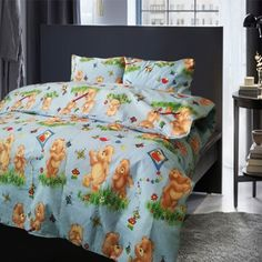Lenjerie bumbac + 2 perne cadou LP2-558 Comforters, Blanket, Bed, Home, Creature Comforts, Quilts, Stream Bed, Rug, Blankets