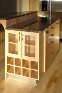 FANTASTIC island!!   Bridgewater Contemporary Kitchen Island, Island, Kitchen Island contemporary kitchen