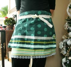 easy aprons made from english tea towels