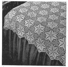 "Vintage Crochet Pattern to Make Crochet Bedspread ""Star Dust"" ~ Filet Crochet, Basic Crochet Stitches, Crochet Basics, Crochet Motif, Crochet Doilies, Crochet Hooks, Crochet Blankets, Vintage Crochet Patterns, Doily Patterns"