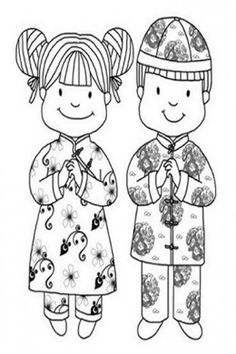 Here are fun free printable coloring pages for children inspired by Chinese New Year. New Year Coloring Pages, Flag Coloring Pages, Coloring Pages For Girls, Free Printable Coloring Pages, Coloring For Kids, Printable Worksheets, Coloring Sheets, Coloring Book, Happy Chinese New Year
