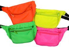 Neon Fanny Pack 3 Pockets Hidden Pocket, Rave Waist Pack, Club and Festival Gear #Handmade #FannyWaistPack