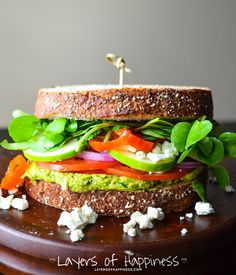 My very favorite veggie sandwich – Light, healthy, and oh so flavorful! With a SECRET ingredient!