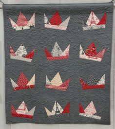 Title: Is There A Court Jester in the House?  Made and Quilted by Lynn Douglass  Bakersfield, California, USA  Bakersfield Modern Quilt Guild