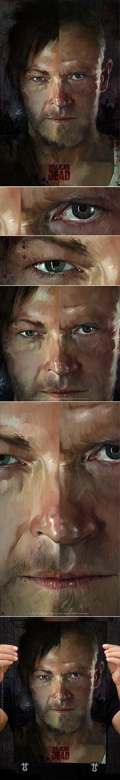 The Walking Death ( Merle & Daryl Dixon) by Vlad Rodriguez, via Behance