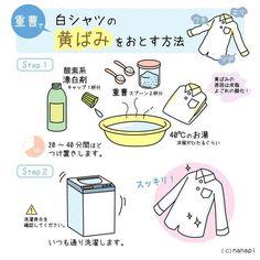 重曹で白シャツの黄ばみをおとす方法 in 2020 Clean Sweep, Clean Up, House Chores, Natural Cleaners, Home Room Design, E Design, Homemaking, Clean House, Housekeeping